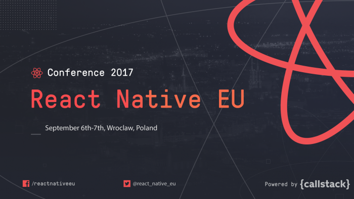 Post image: React Native EU 2017 — Day 1 in Videos