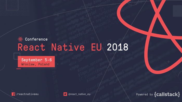 Post image: React Native EU 2018 — Videos