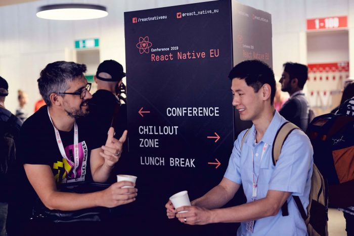 developers networking during react react native eu 2020 conference