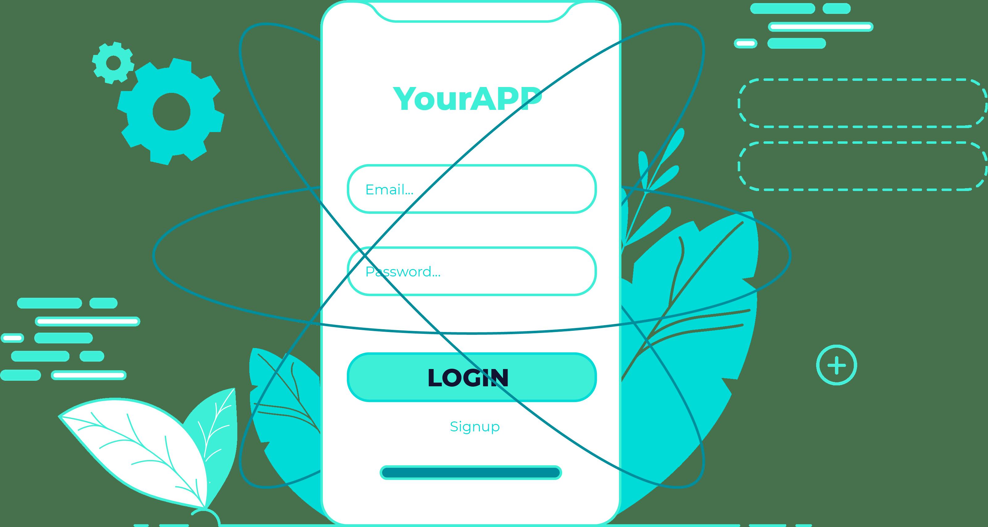 illustration of a login screen