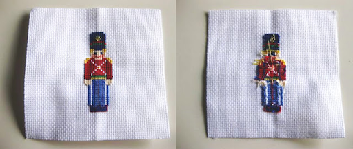 cross-stitch from the front and back side