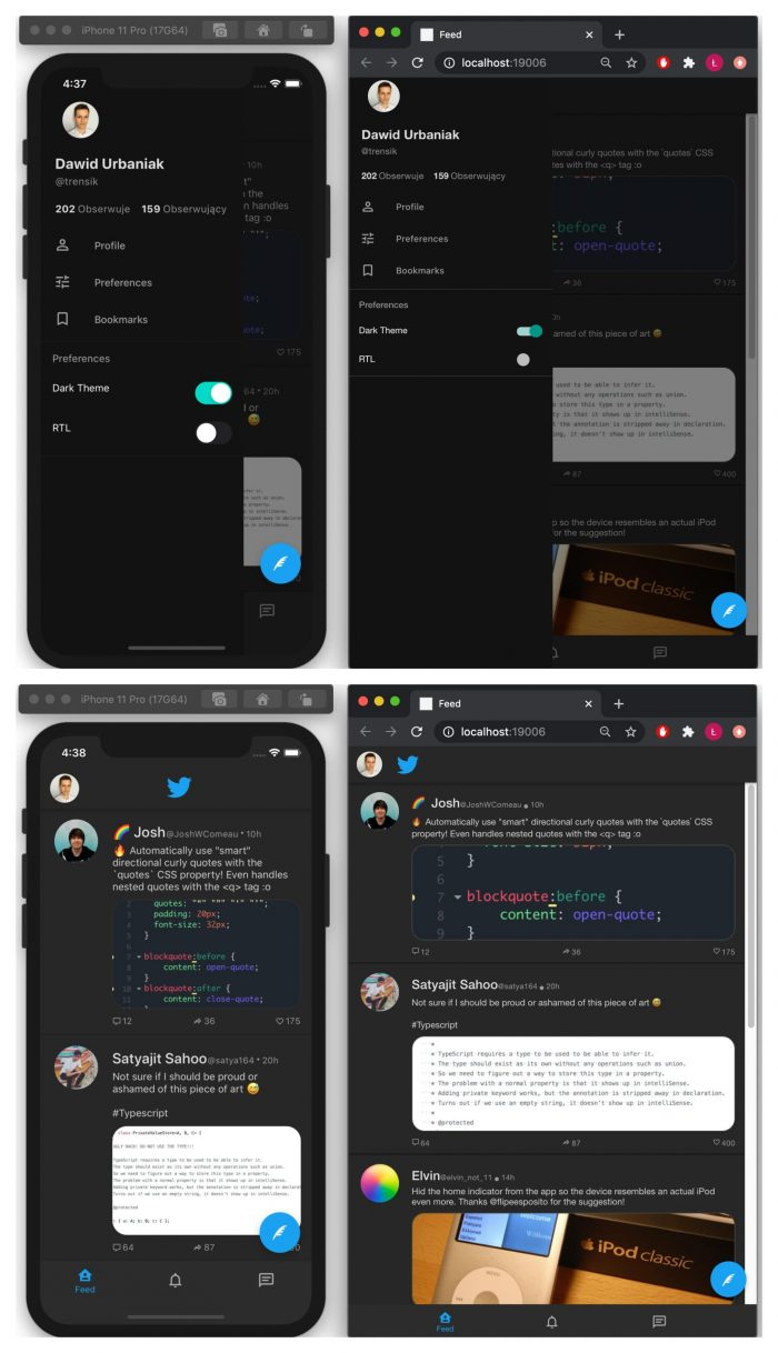 MVP and rapid prototyping with the help of react native paper