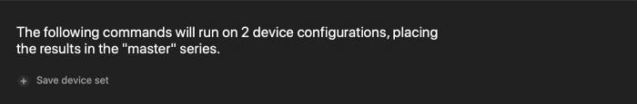 saving test run configuration