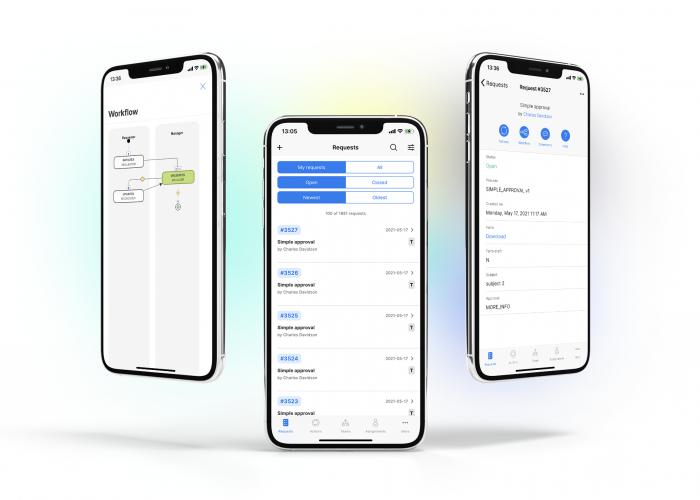 advantys workflowgen mobile app screens